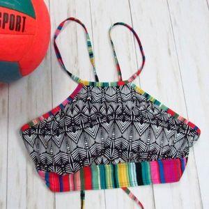 Title Nine Aztec Bikini Top L